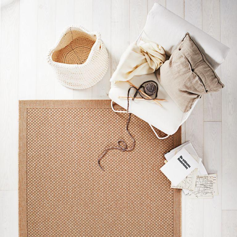 Restposten Flachgewebe Teppich Grazia beige uni 20×170