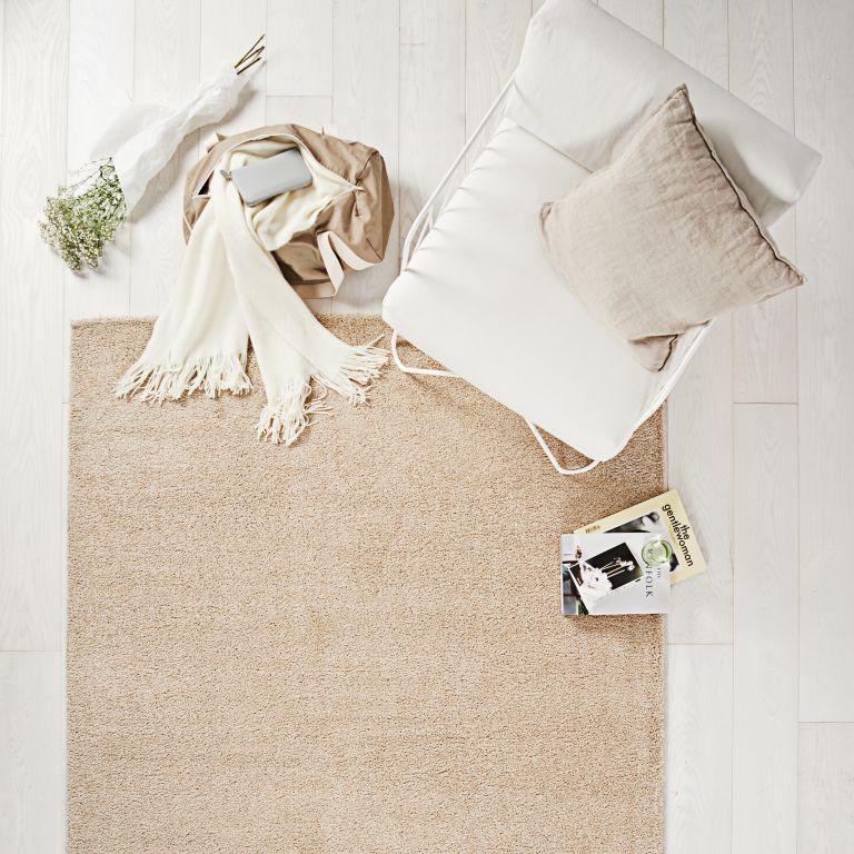 Restposten Kurzflor Teppich Conzept beige uni 80×150
