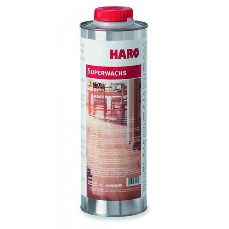 haro superwachs parkett furnier und korkboden pflege pflegemittel 1 liter neu ebay. Black Bedroom Furniture Sets. Home Design Ideas