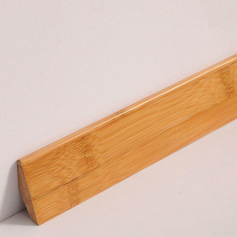 sockelleisten fussleisten abschlussleisten bambus m3918 massiv lackiert braun ebay. Black Bedroom Furniture Sets. Home Design Ideas