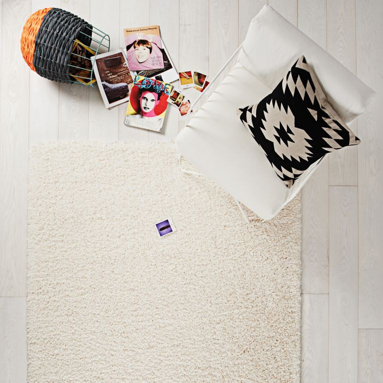 Hochflor Teppich 67×140 Luxus Shaggy weiß uni Läufer  eBay