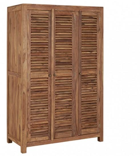 Kleiderschrank Holz massiv Palisanderholz 3 Lamellentüren 130x60cm ...