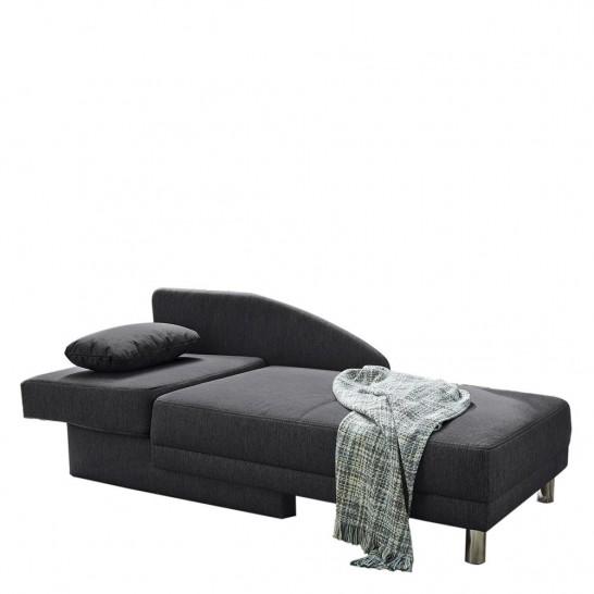 recamiere mit schlaffunktion flachgewebe anthrazit lf. Black Bedroom Furniture Sets. Home Design Ideas