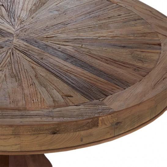 esstisch holz rund recyceltes ulmenholz 100cm tisch fu. Black Bedroom Furniture Sets. Home Design Ideas